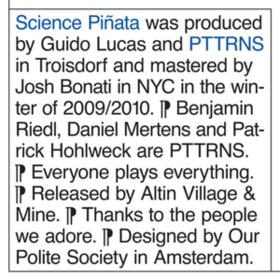 Science Pinata Pttrns