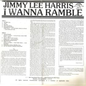 I Wanna Ramble Jimmy Lee Harris