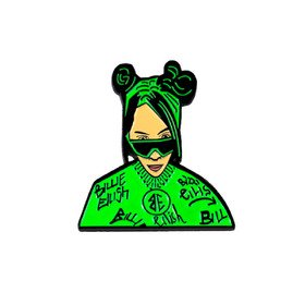 Billie Eilish Green Vinyla Pins