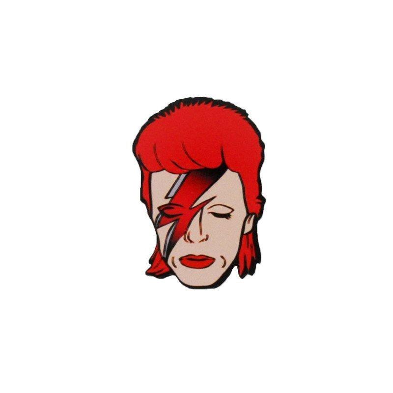David Bowie Cartoon Pin