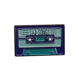 Cassette Sad Songs Vinyla Pins