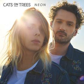 Neon Cats On Trees