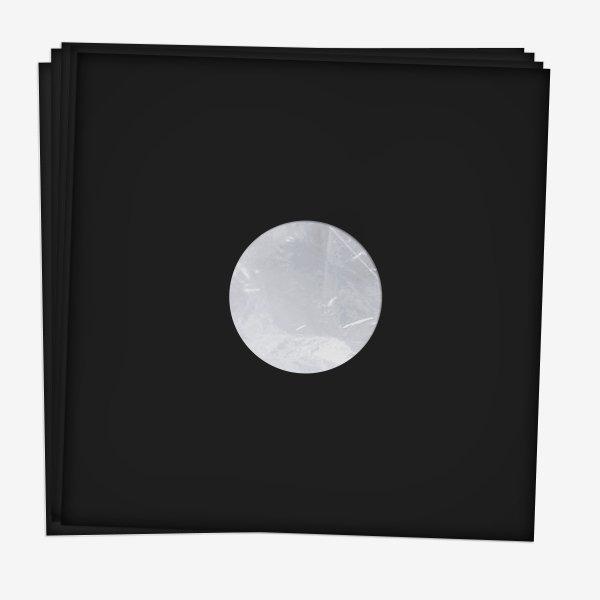 """Антистатические конверты для 12"""" пластинок 20 шт (Black)"""