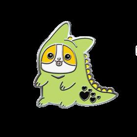 Corgisaur Green PICO Pins