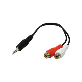 3.5mm Male to 2RCA Female Cable 25cm Omnitronic