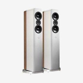 Concept 500 Gloss White/Pale Oak Q Acoustics