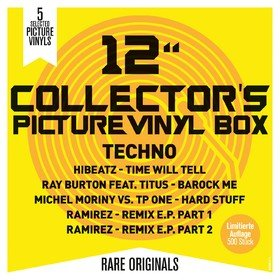 "12"" Collector's Picture Vinyl Box - Techno Various Artists"