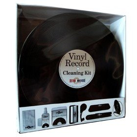 Vinyl Record Cleaning Kit In Round Tin (Deluxe) Retro Musique
